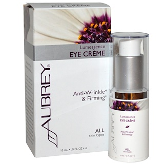 Aubrey Organics, Lumessence Eye Cream, All Skin Types, .5 fl oz (15 ml)