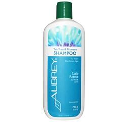 Aubrey Organics, 頭皮救援洗髮水, 茶樹與櫻花草, 11盎司 (325毫升)