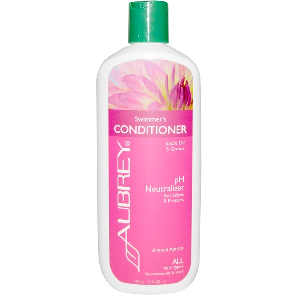 Aubrey Organics, Swimmer's Conditioner, pH Neutralizer, All Hair Types, 11 fl oz (325 ml) (Discontinued Item)