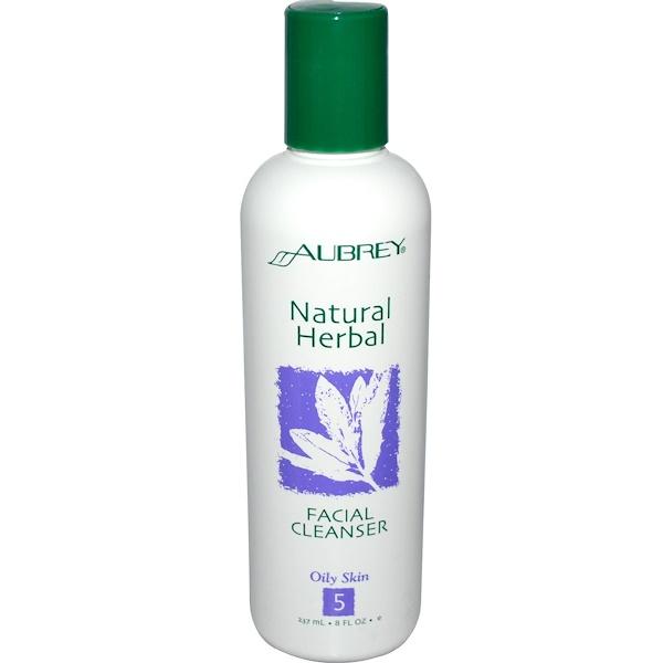 Aubrey Organics, Natural Herbal, Facial Cleanser, 8 fl oz (237 ml) (Discontinued Item)