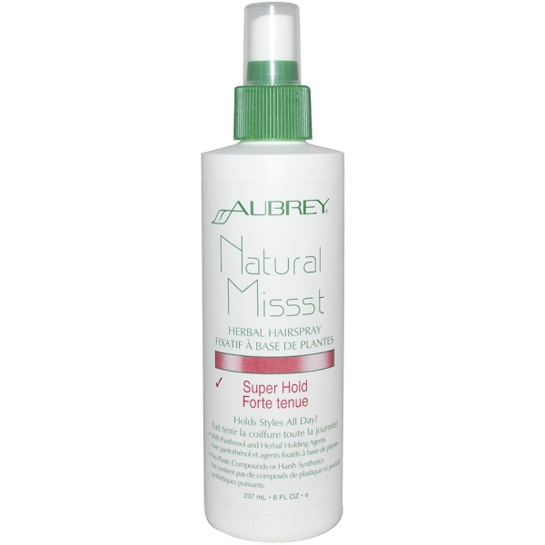Aubrey Organics, Natural Missst Herbal Hairspray, Super Hold, 8 fl oz (237 ml) (Discontinued Item)