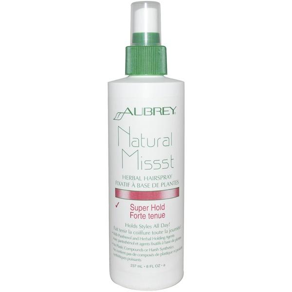 Aubrey Organics, Натуральный лак для волос с растительными ингредиентами, Сильная фиксация, 8 жидких унций (237 мл) (Discontinued Item)