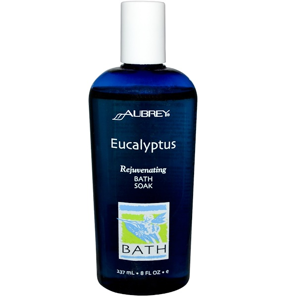Aubrey Organics, Rejuvenating Bath Soak, Eucalyptus, 8 fl oz (237 ml) (Discontinued Item)