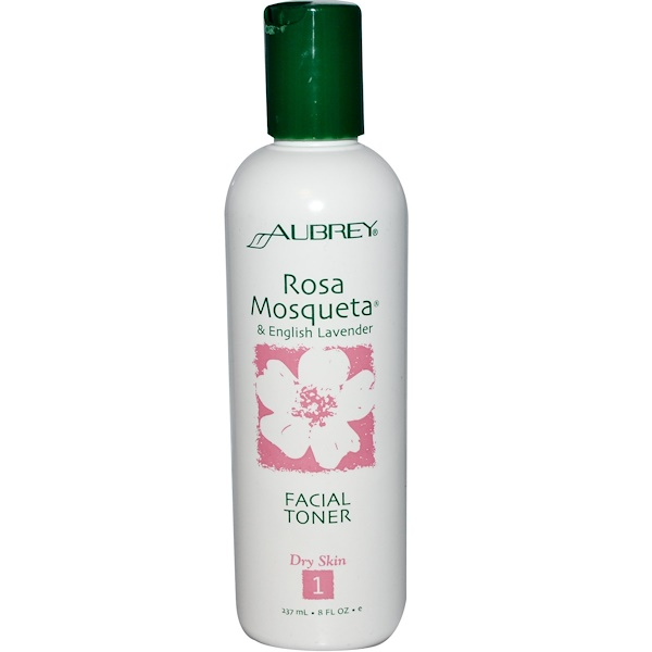 Aubrey Organics, Facial Toner, Rosa Mosqueta & English Lavender, 8 fl oz (237 ml) (Discontinued Item)