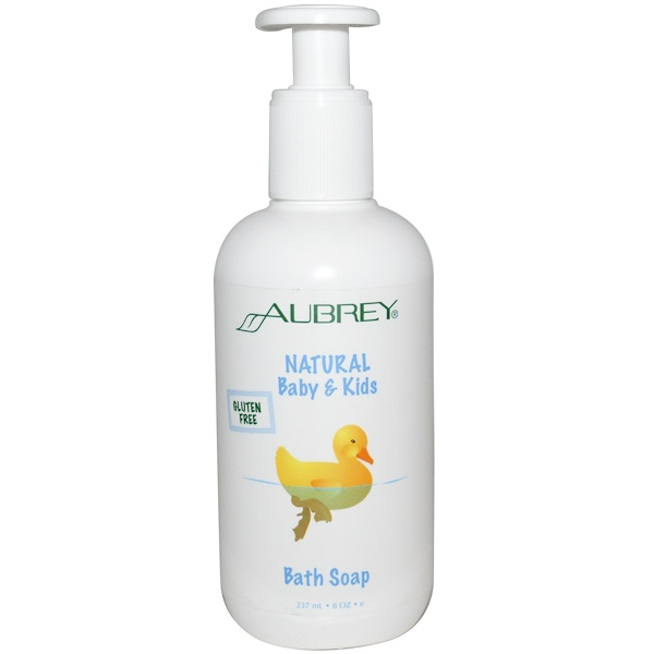 Aubrey Organics, Natural Baby & Kids Bath Soap, 8 oz (237 ml ) (Discontinued Item)