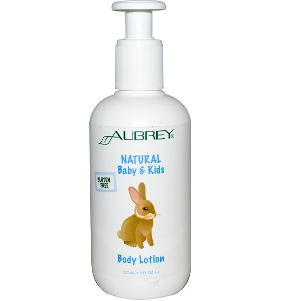 Aubrey Organics, ナチュラルベビー & キッズボディローション, 8 液量オンス (237 ml) (Discontinued Item)