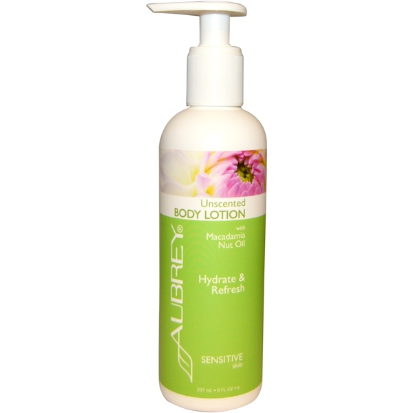 Aubrey Organics, Body Lotion with Macadamia Nut Oil, Unscented, 8 fl oz (237 ml)