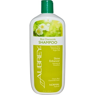 Aubrey Organics, Blue Chamomile  Shampoo, Classic Blue Chamomile Scent, Normal, 16 fl oz (473 ml)