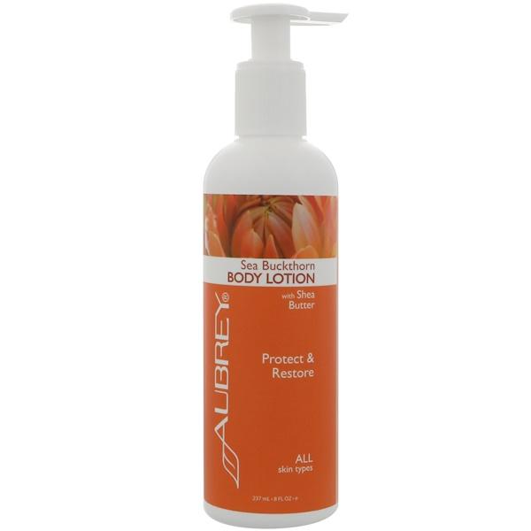 Aubrey Organics, 身體乳,沙棘,8 液體盎司(237 毫升)
