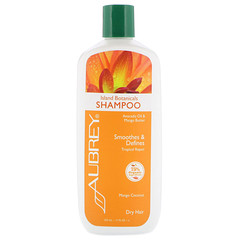 Aubrey Organics, Island Botanicals 洗髮水,乾燥頭髮,芒果椰子,11 液體盎司(325 毫升)
