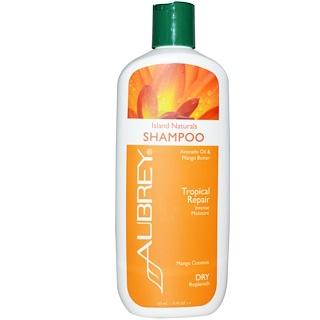 Aubrey Organics, Island Naturals Shampoo, Dry/Replenish, Mango Coconut, 11 fl oz (325 ml)