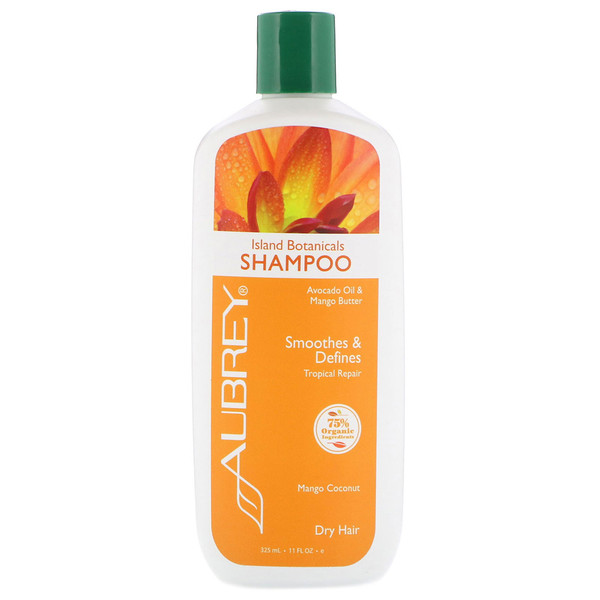 Island Botanicals Shampoo, Dry Hair, Mango Coconut, 11 fl oz (325 ml)