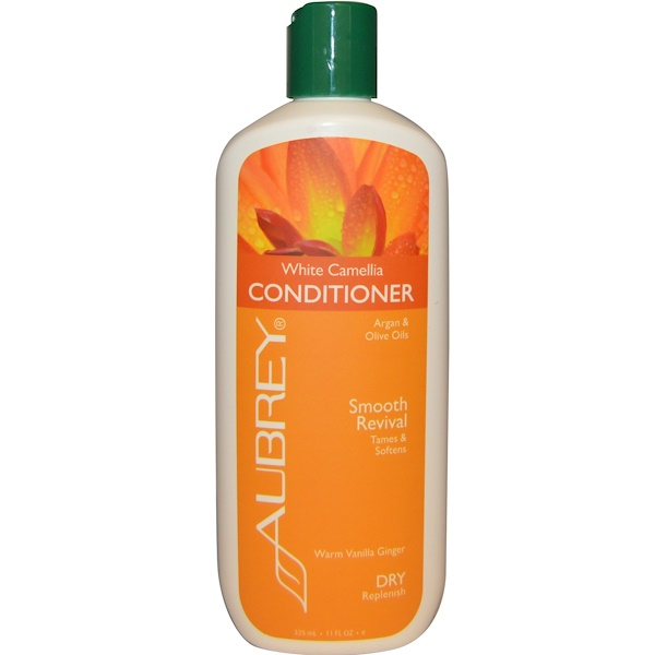 Aubrey Organics, White Camellia Conditioner, Smooth Revival, Dry/Replenish, 11 fl oz (325 ml) (Discontinued Item)
