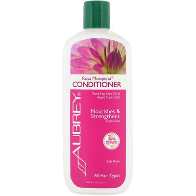 Купить Aubrey Organics Кондиционер Чилийская роза , энергия и увлажнение, для всех типов волос, 11 жидких унций (325 мл)