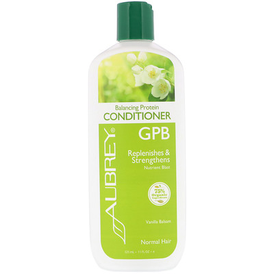 Aubrey Organics GPB, Balancing Protein Conditioner, Normal Hair, Vanilla Balsam, 11 fl oz (325 ml)