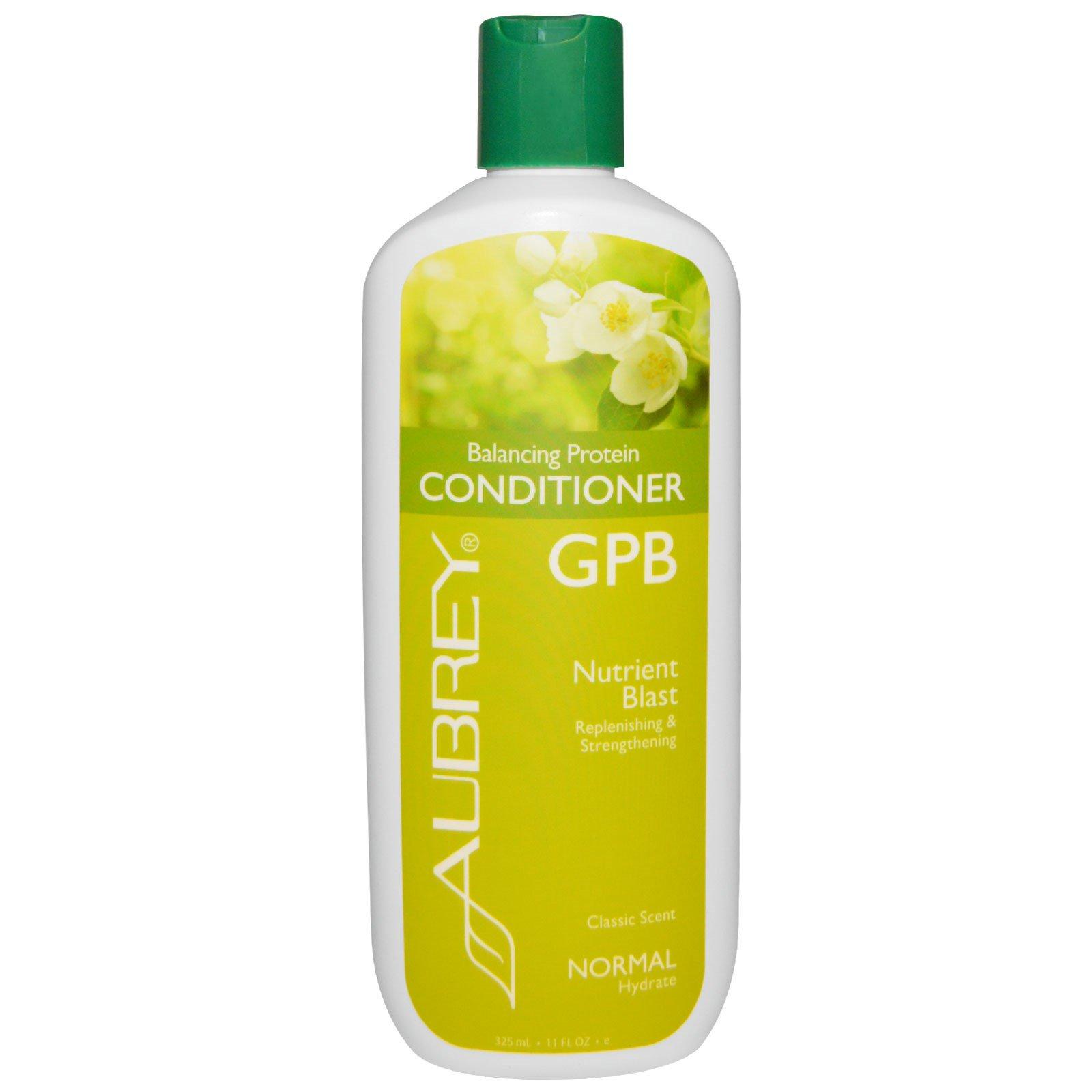 Aubrey Organics, GPB, Балансирующий протеиновый кондиционер, Поток питательных веществ, Для нормальных волос, 11 унции (325 мл)