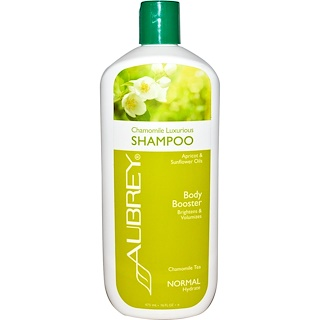 Aubrey Organics, Chamomile Luxurious Shampoo, Chamomile Tea, Normal, 16 fl oz (473 ml)