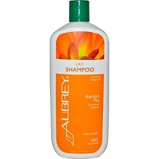 Aubrey Organics, Shampooing J.A.Y. Shampooing, fixateur de kératine, Séchant/Voluminant, 16 fl oz (473 ml)