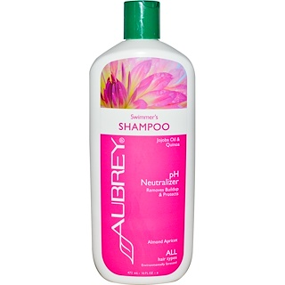Aubrey Organics, 游泳後洗髮水,pH中和劑,適合所有髮質,16液體盎司(473毫升)