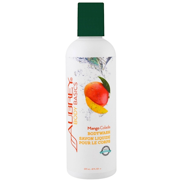 Aubrey Organics, Body Basics, Bodywash, Mango Colada, 8 fl oz (237 ml) (Discontinued Item)