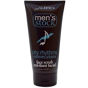 Обри Органикс, Men's Stock, Face Scrub Exfoliant Facial, City Rhythms, 6 fl oz (177 ml) отзывы