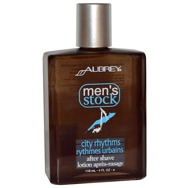 Aubrey Organics, Men's Stock, City Rhythms After Shave, 4 fl oz (118 ml) (Discontinued Item)