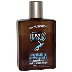 Обри Органикс, Men's Stock, City Rhythms After Shave, 4 fl oz (118 ml) отзывы покупателей
