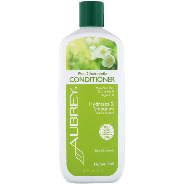 品牌從A - ZAubrey Organics類別沐浴露及個人護理護髮護髮乳:Aubrey Organics, Blue Chamomile Conditioner, Hydrates & Smoothes, Normal, 11 fl oz (325 ml)