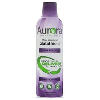 Aurora Nutrascience, Mega-Liposomal Glutathione, Organic Fruit Flavor, 750 mg, 16 fl oz (480 ml)