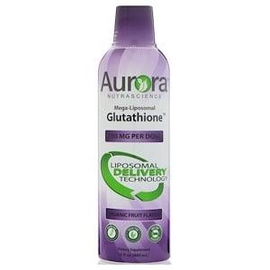 Aurora Nutrascience, Mega-Liposomal Glutathione, Organic Fruit Flavor, 750 mg, 16 fl oz (480 ml) отзывы