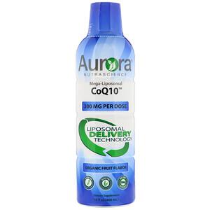Aurora Nutrascience, Mega-Liposomal CoQ10, Organic Fruit Flavor, 300 mg, 16 fl oz (480 ml) отзывы