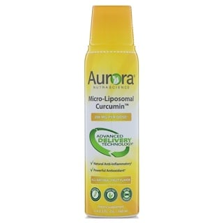 Aurora Nutrascience, Micro-Liposomal Curcumin, All-Natural Fruit Flavor, 200 mg, 5.4 fl oz (160 ml)