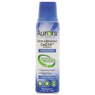 Aurora Nutrascience, Micro-Liposomal CoQ10 (Ubiquinol), All-Natural Fruit Flavor, 250 mg,  5.4 fl oz (160 ml)