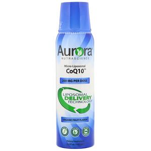 Aurora Nutrascience, Micro-Liposomal CoQ10, Organic Fruit Flavor, 200 mg,  5.4 fl oz (160 ml) отзывы
