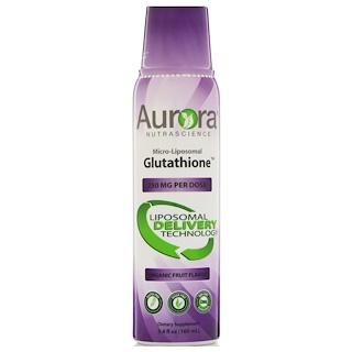 Aurora Nutrascience, マイクロリポソーム グルタチオン、オーガニックフルーツ味、250mg、5.4 fl oz (160 ml)