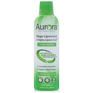 Aurora Nutrascience, Mega-Liposomal R-Alpha Lipoic Acid, All-Natural Fruit Flavor, 750 mg, 16 fl oz (480 ml)