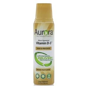 Aurora Nutrascience, Micro-Liposomal Vitamin D3, Organic Fruit Flavor, 3000 IU, 5.4 fl oz (160 ml) отзывы