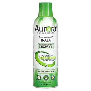 Aurora Nutrascience, Mega-Liposomal R-ALA, Organic Fruit, 16 fl oz (480 ml)