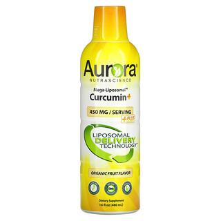 Aurora Nutrascience, Mega-Liposomal Curcumin+, Organic Fruit, 450 mg, 16 fl oz (480 ml)