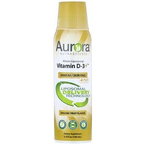 Aurora Nutrascience, Micro-Liposomal Vitamin D-3+, Organic Fruit Flavor, 3,000 IU, 5.4 fl oz (160 ml) отзывы