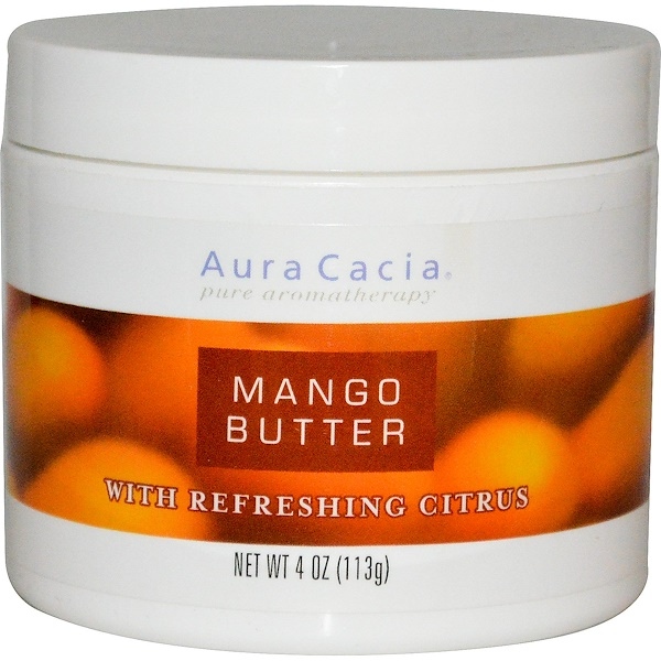 Aura Cacia, Mango Butter, with Refreshing Citrus, 4 oz (113 g) (Discontinued Item)