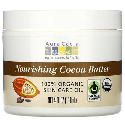 Купить Aura Cacia Питающее какао масло, 4 жидкие унции (118 мл)