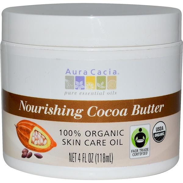 Aura Cacia, 滋養可可脂,4液體盎司(118毫升)