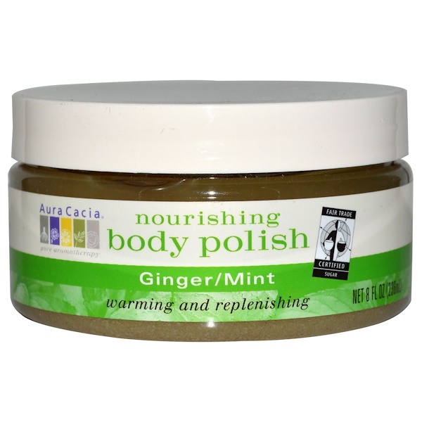 Aura Cacia, Nourishing Body Polish, Ginger / Mint, 8 fl oz (236 ml) (Discontinued Item)