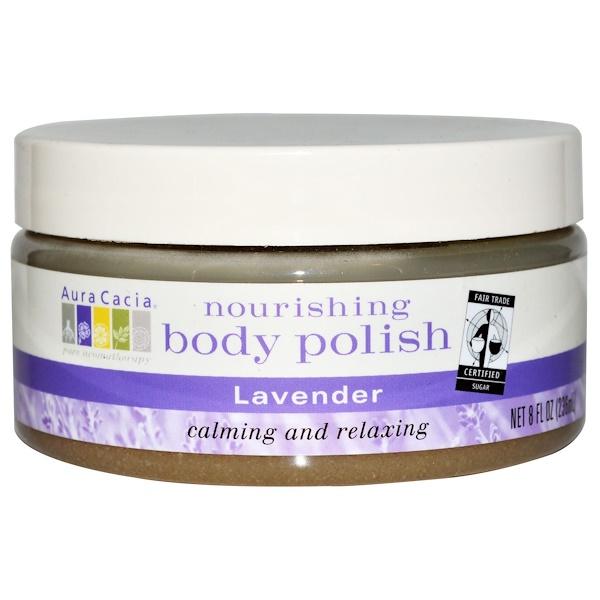 Aura Cacia, Nourishing Body Polish, Lavender, 8 fl oz (236 ml) (Discontinued Item)