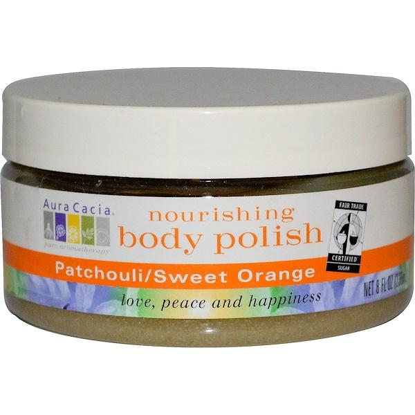 Aura Cacia, Nourishing Body Polish, Patchouli/Sweet Orange, 8 fl oz (236 ml) (Discontinued Item)