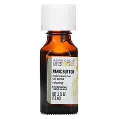 Aura Cacia, 純精油混合配方,Panic Button,0.5 液量盎司(15 毫升)