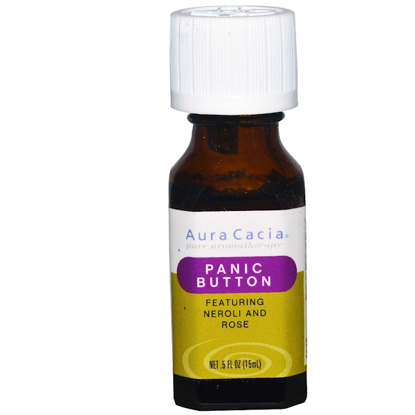 Aura Cacia, Panic Button, .5 fl oz (15 ml)