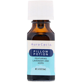 Aura Cacia, Pillow Potion, Lavender And Hops, .5 fl oz (15 ml)