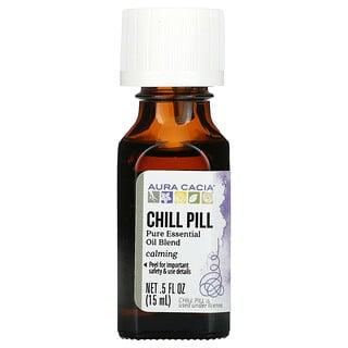 Aura Cacia, Освежающее и расслабляющее средство Chill Pill, 0.5 жидких унций (15 мл)